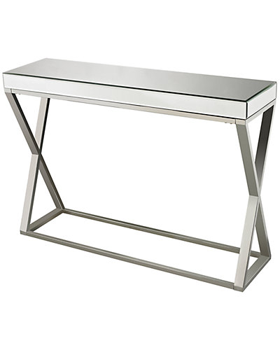 Mirror & Stainless Steel Side Table