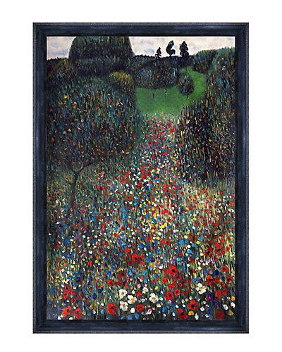 Poppy Field by Gustav Klimt Oil Reproduction