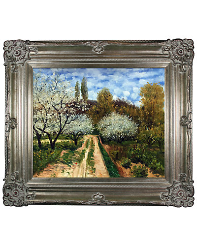 Trees in Bloom by Claude Monet Oil Reproduction