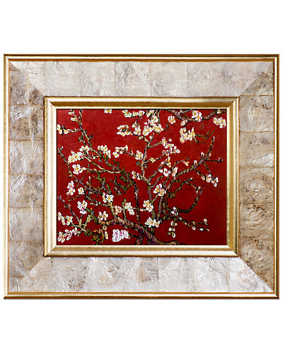 Branches of an Almond Tree in Blossom, Ruby Red by Vincent Van Gogh Oil Reproduction