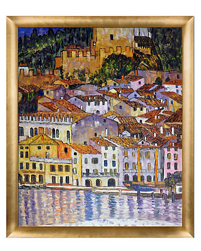 Malcesine on Lake Garda by Gustav Klimt Oil Reproduction