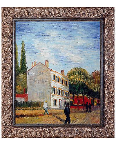 The Rispal Restaurant at Asnieres Summer by Vincent Van Gogh Oil Reproduction