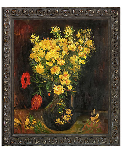 Vase with Viscaria (Poppy Flowers) by Vincent Van Gogh Oil Reproduction