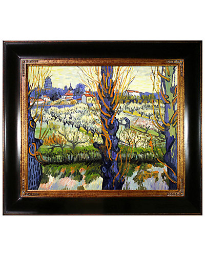 Orchard in Bloom with Poplars by Vincent Van Gogh Oil Reproduction