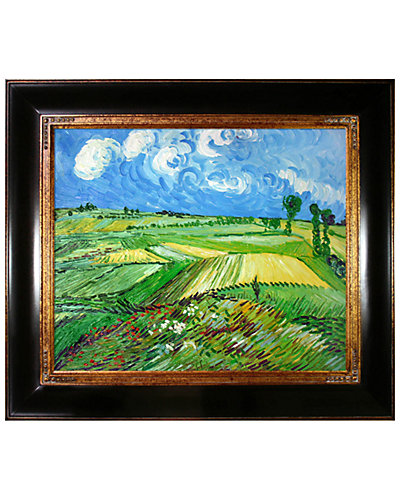 Wheat Fields at Auvers Under Clouded Sky by Vincent Van Gogh Oil Reproduction