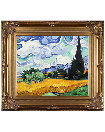 Wheat Field with Cypresses by Vincent Van Gogh Oil Reproduction