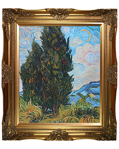 Two Cypresses by Vincent Van Gogh Oil Reproduction