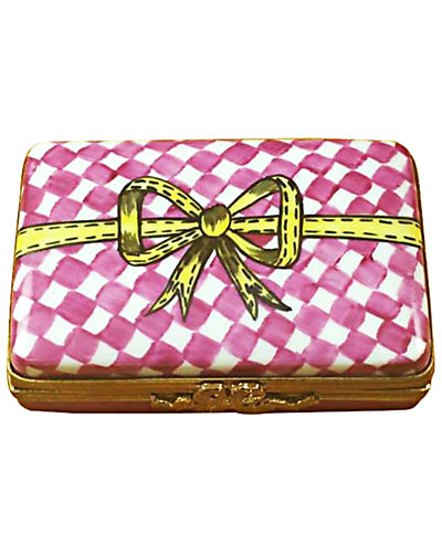 Rochard Limoges Pink/White Gift Box With Chocolates