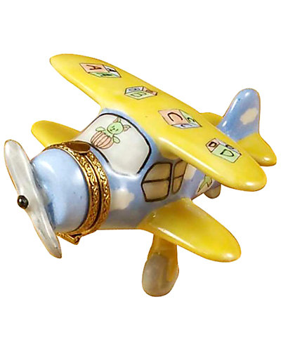 Rochard Limoges Airplane Baby Decor