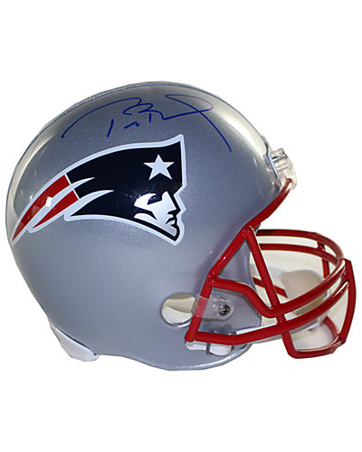 Tom Brady Signed New England Patriots Full Size Replica Helmet