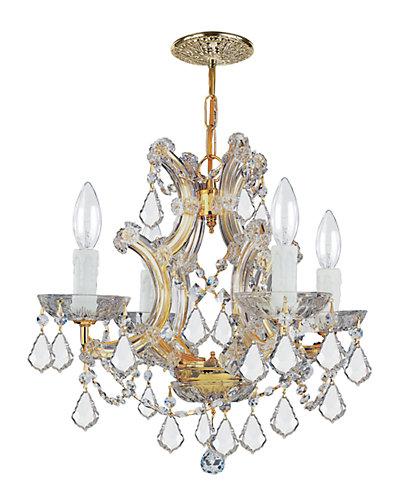 4-Light Maria Theresa Mini Chandelier