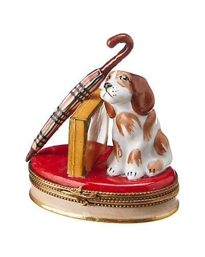 Rochard Limoges Spaniel with Briefcase & Umbrella Box