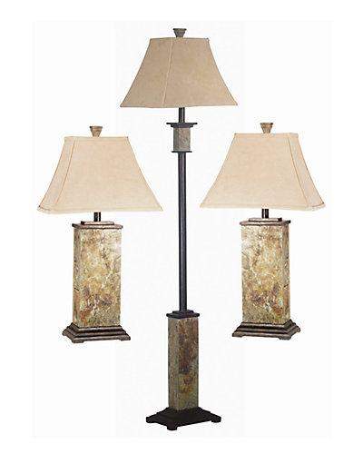 Moroccan Leaf 3pc Lamp Set