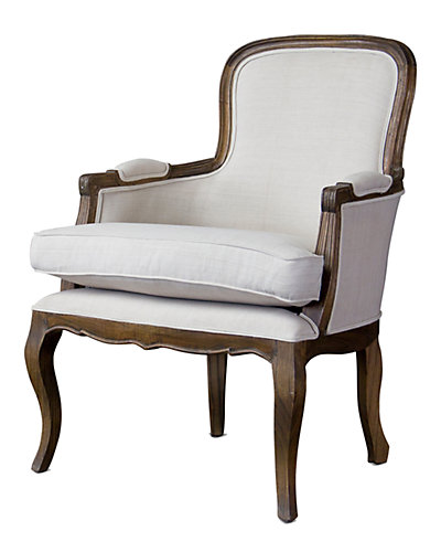 Antiqued French Accent Chair