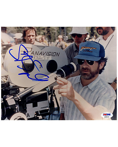 Steven Spielberg Signed Filming Indiana Jones Photo by Steiner Sports