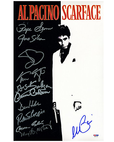 Scarface Autographed Movie Poster by Steiner Sports