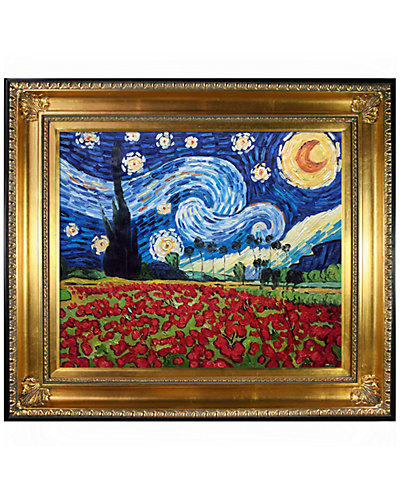 Starry Poppies Collage by Vincent Van Gogh Oil Reproduction