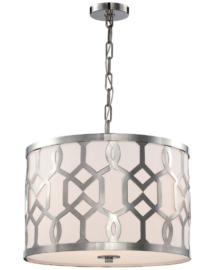 3 LIGHT POLISHED NICKEL PENDANT