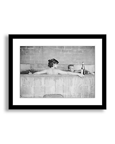 Photos.com by Getty Images Steve McQueen and Wife, Neile Adams, In Sulphur Bath by John Dominis