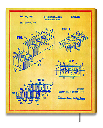 Lego Toy Building Brick 1961  by The Oliver Gal Artist Co.