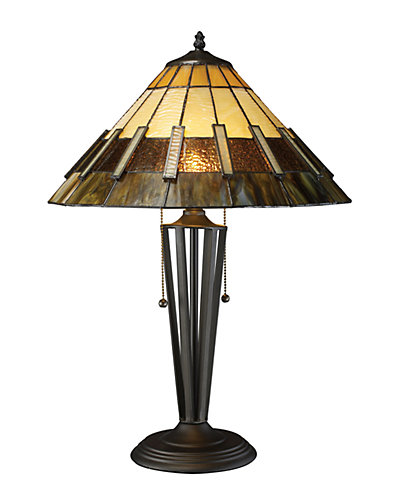 23in Porterdale Tiffany Glass LED Table Lamp