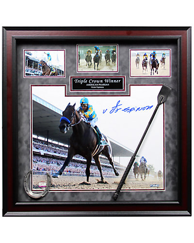 Steiner Sports Victor Espinoza American Pharoah Triple Crown Signed Photo