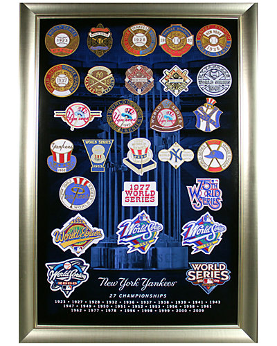 Steiner Sports New York Yankees 27 World Series Titles Patch Collage
