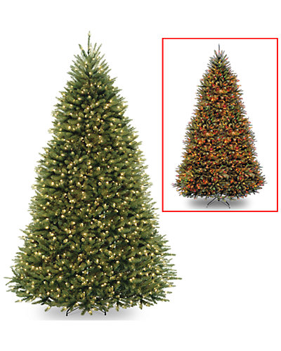 9ft Dunhill Fir Hinged Tree with 900 Low Voltage Dual Color Lights