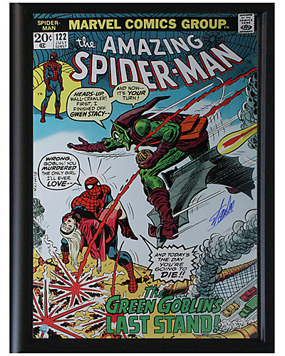 Steiner Sports Signed Stan Lee Framed Rare Green Goblin Poster