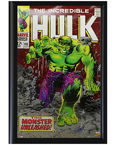 Steiner Sports Signed Stan Lee Framed Incredible Hulk Poster