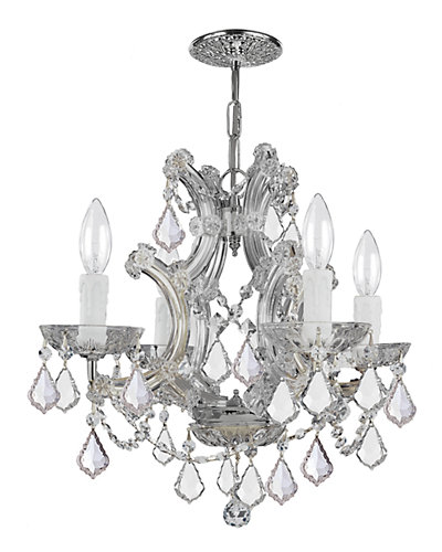 Maria Theresa 4-Light Chandelier with Swarovski Crystals