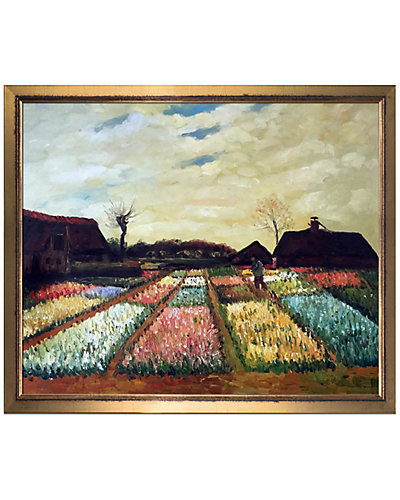Bulb Fields by Vincent Van Gogh Oil Reproduction