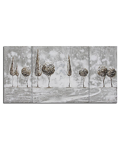 Set of 3 Tree Landscape Paintings