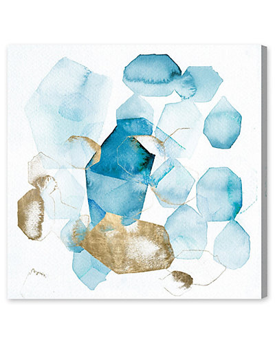 Pebbles in the River Canvas Art by Art Remedy LLC