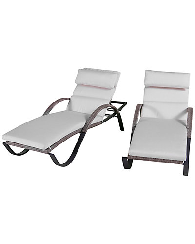 Cannes Set of Two Chaise Lounges