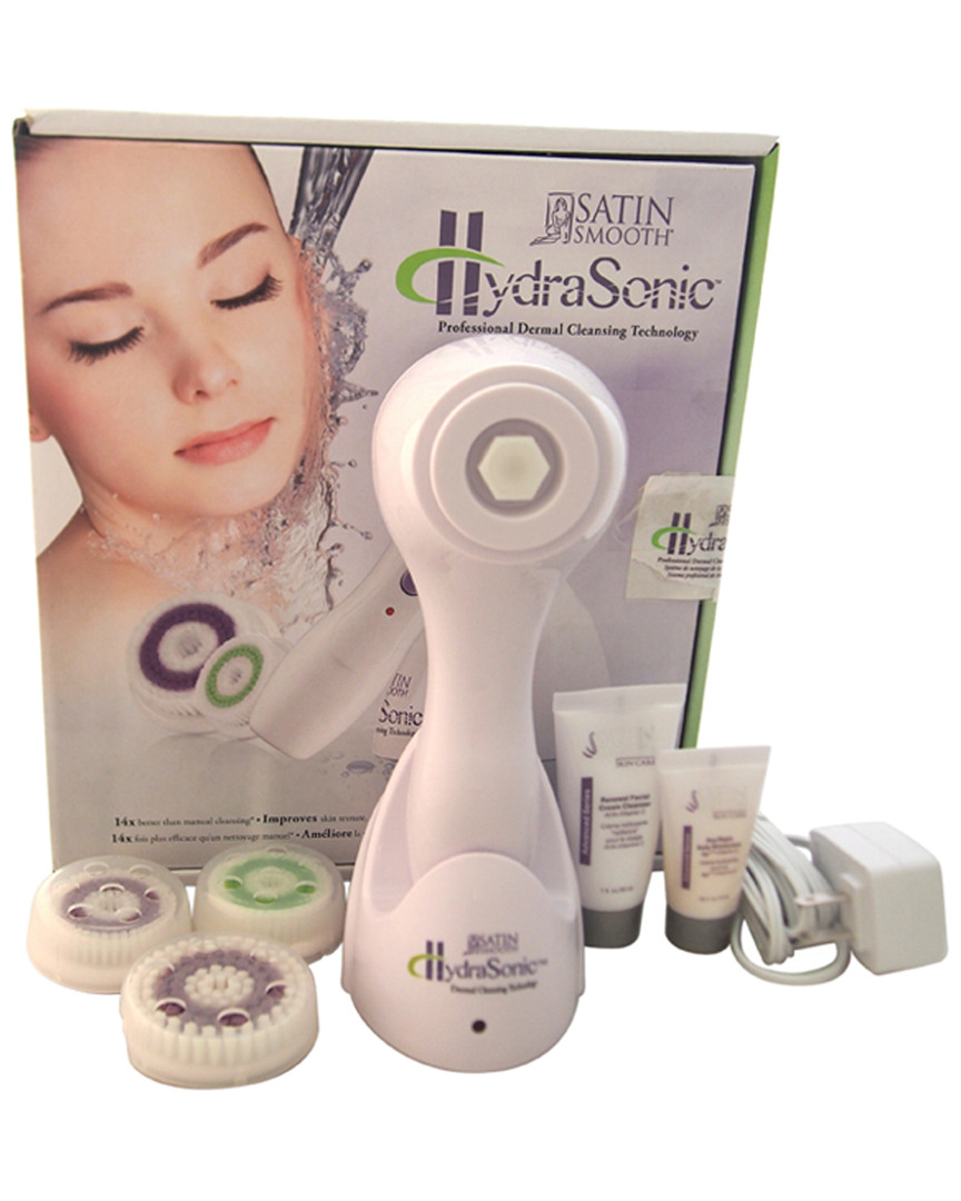 Satin Smooth Unisex 7Pc White Hydrasonic Professional Dermal Cleansing Technology Kit 41208076200000
