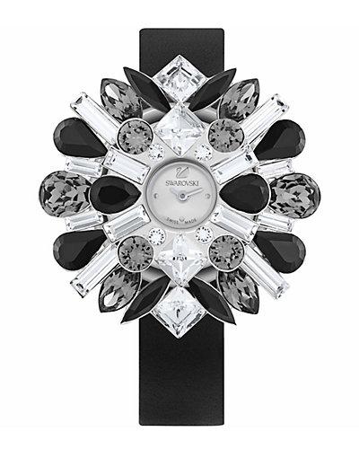 Swarovski Crystal Women's Shourouk Watch with Interchangeable Covers & Straps