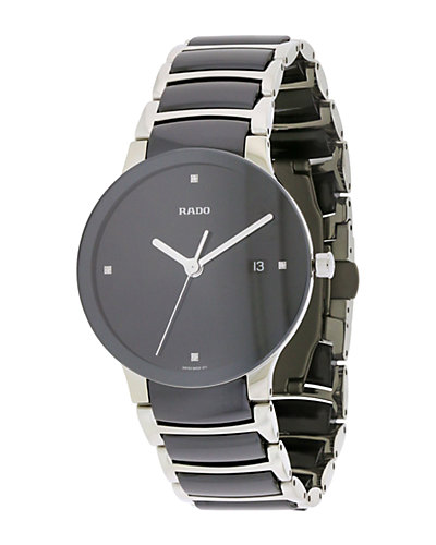 Rado Women's Stainless Steel & Ceramic Diamond Watch