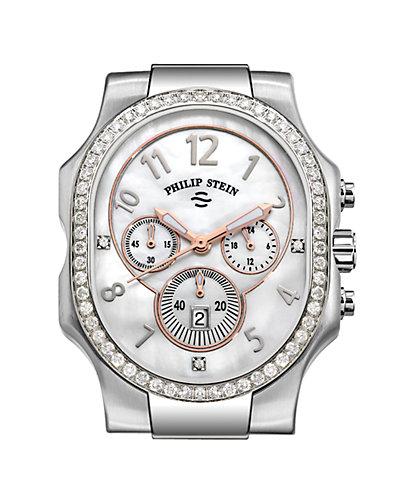 Philip Stein Classic Diamond Chronograph Watch Case - Extra Large