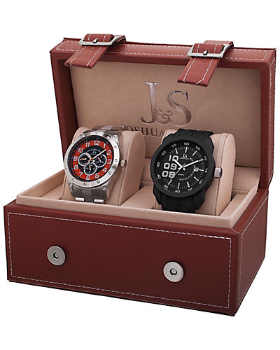 Joshua & Sons Men's Set of Two Watches