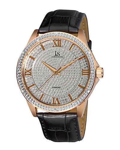 Joshua & Sons Women's Diamond Accent Watch