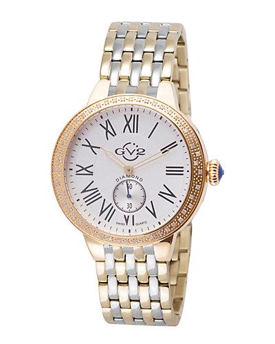 Gevril Women's GV2 9105 Astor Metal Diamond Watch