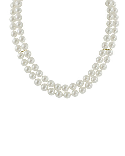 14K 6-6.5mm Akoya Pearl Double-Row Necklace