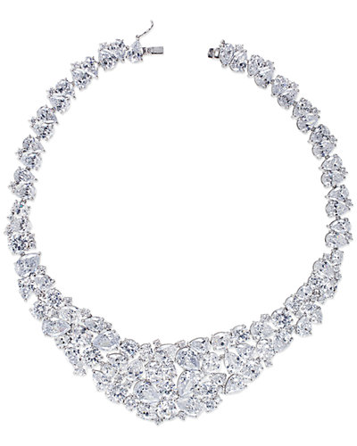 CZ by Kenneth Jay Lane Plated Collar Necklace