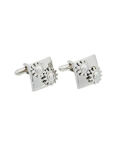 Link Up Plated Moving Gears Cufflinks