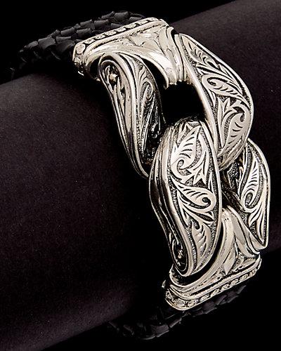 Scott Kay Guardian Silver Men's Woven Bracelet