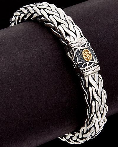 Scott Kay Equestrian 18K & Silver Men's Woven Bracelet
