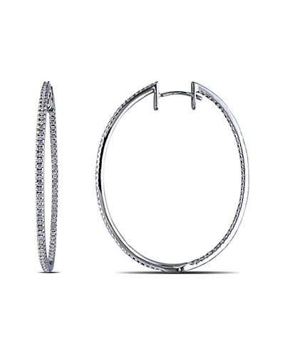 14K 1.00 ct. tw. Diamond Hoops