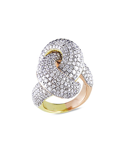 14K 4.50 ct. tw. Diamond Swirl Ring