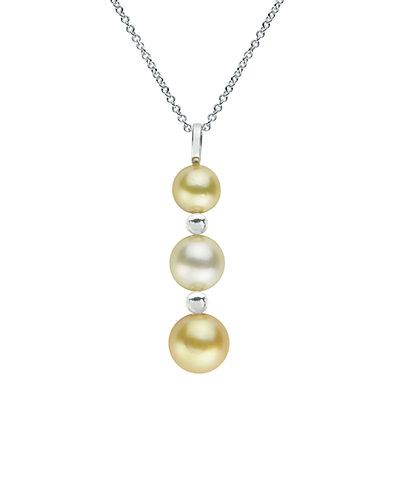 Silver 9-11mm South Sea Pearl Drop Necklace